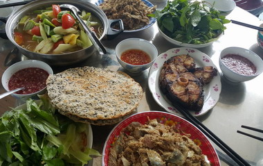 Local Vietnamese dishes