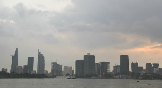 Ho Chi Minh city view from the boat