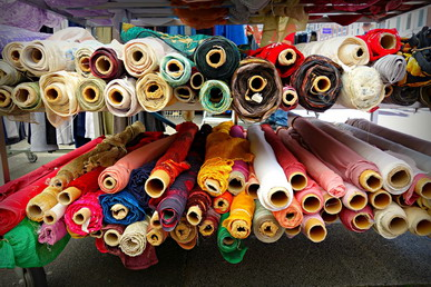 Saigon's biggest fabric markets