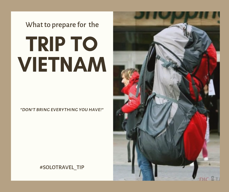 What is in my travelling packages to Vietnam?
